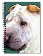 Shar Pei Art - Wrinkles Spiral Notebook