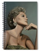 Sharon Stone Spiral Notebook