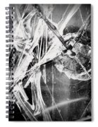 Shatter - Black And White Spiral Notebook