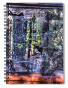 Shattere Side School Bus Window Spiral Notebook