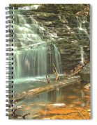 Shawnee Falls At Ricketts Glen Spiral Notebook