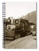 Shay No. 498 At The Summit Of Mt. Tamalpais Marin Co California Circa 1902 Spiral Notebook