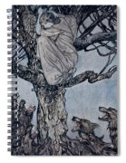 She Looked With Angry Woe At The Straining And Snarling Horde Below Illustration From Irish Fairy  Spiral Notebook