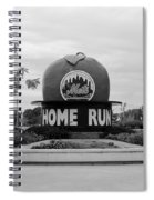 Shea Stadium Home Run Apple In Black And White Spiral Notebook