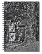 Shed Bw Spiral Notebook