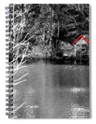 Shed On The Lake Spiral Notebook