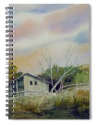 Shed With A Rail Fence Spiral Notebook