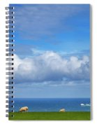 Sheep Grazing On The North Yorkshire Spiral Notebook