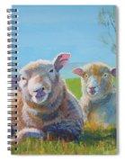 Sheep Lying Down Spiral Notebook