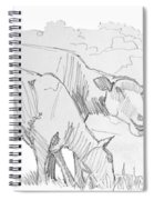 Sheep Pencil Drawing  Spiral Notebook