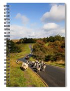 Sheep With Shepherd On A Quad Bike Spiral Notebook