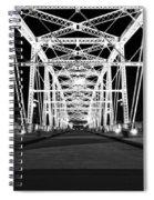 Shelby Street Bridge At Night In Nashville Spiral Notebook