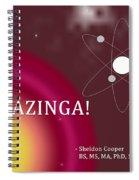 Sheldon Cooper Bazinga Spiral Notebook