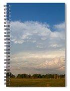 Shelf Cloud Mamacumulus Leading Edge  Spiral Notebook