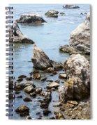Shell Beach Rocky Coastline Spiral Notebook