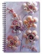 Shell Flowers  No 1  Spiral Notebook