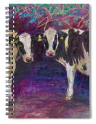 Sheltering Cows Spiral Notebook