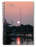 Shem Creek At Twilight Spiral Notebook