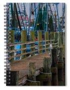 Shem Creek Wharf Spiral Notebook