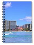 Sheraton And Royal Hawaiian View Spiral Notebook