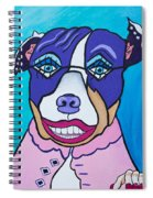 She's A Pit Bull That Wears Lipstick Spiral Notebook