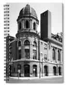 Shibe Park In Black And White Spiral Notebook