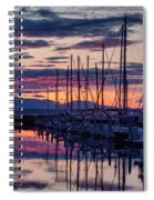 Shilshole Olympic Mountains Sunset Spiral Notebook