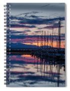 Shilshole Olympic Mountains Sunset Vertical Spiral Notebook