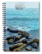 Ship At Sea Spiral Notebook