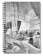Ship Austria, C1816 Spiral Notebook