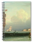 Ship Going Out, Fort Independence Spiral Notebook