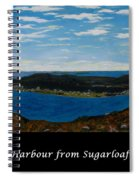 Ship Harbour From Sugarloaf Hill - Historic Town - Atlantic Charter Spiral Notebook