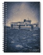 Ship In A Snowstorm Spiral Notebook