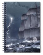 Ship In A Storm Spiral Notebook