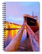 Ship In Harbor Spiral Notebook