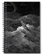 Ship In Stormy Sea Spiral Notebook