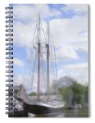 Ship In The Harbor Spiral Notebook