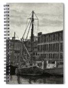 Ship Mooring Vintage Spiral Notebook