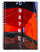 Ship Waterline Numbers Spiral Notebook