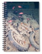 Motorbikes On A Ship Wreck Spiral Notebook