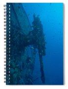 Small Artillery On A Ship Wreck Spiral Notebook