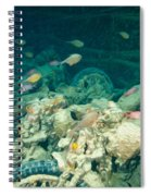 Ship Wreck With Motorbikes Spiral Notebook