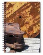 Ship Yard Rust 5 Spiral Notebook