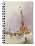 Shipping In The Solent 19th Century Spiral Notebook