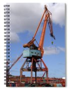 Shipping Industry Crane 06 Spiral Notebook