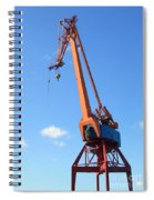 Shipping Industry Crane Spiral Notebook