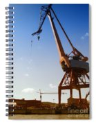 Shipping Industry Dock Spiral Notebook