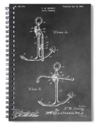 Ship's Anchor Patent Spiral Notebook