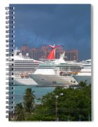 Ships And Atlantis Spiral Notebook
