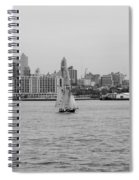 Ships And Boats In Black And White Spiral Notebook